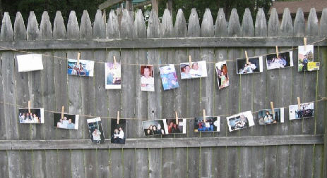 Wedding Decor Photo Memory Wall