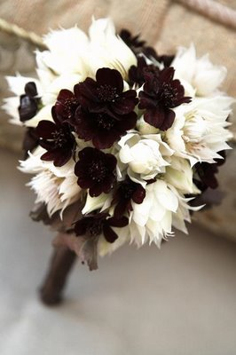 brown wedding flowers