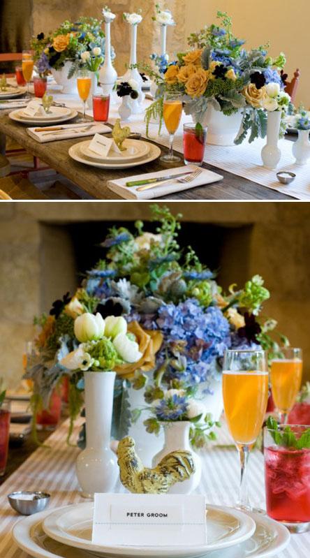 brunch wedding table decor