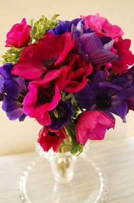 pink purple wedding flowers