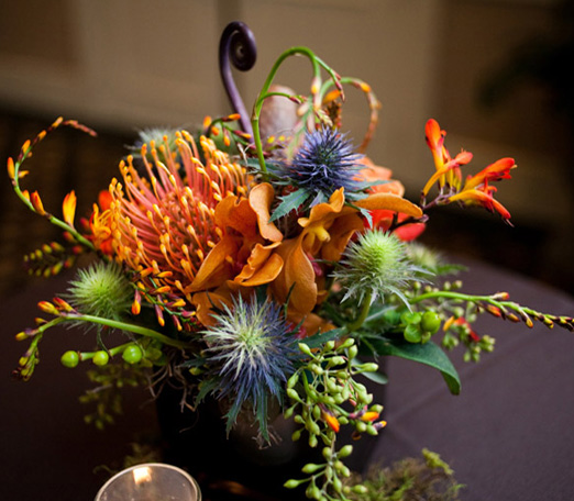 funky floral centerpieces