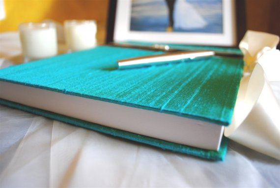 turquoise guestbook