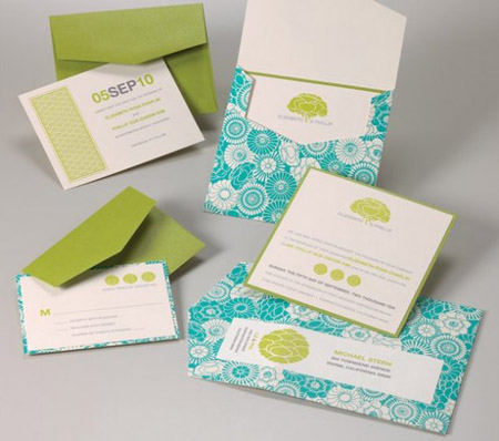 turquoise wedding invitations Photo Credit SugaredInk