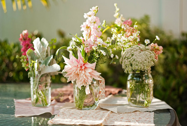 mason jar wedding vases