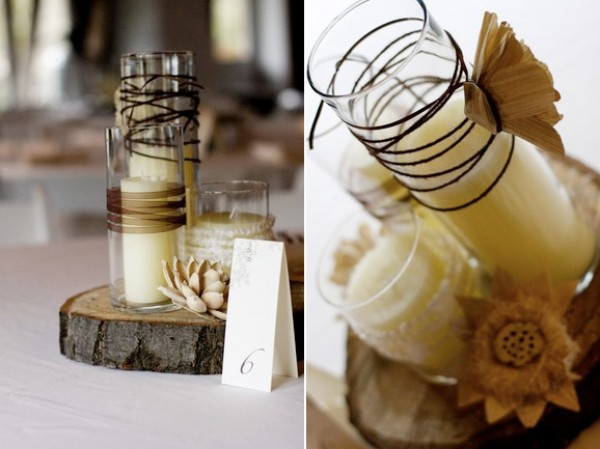 Wedding Details: Burlap, Raffia and Twine