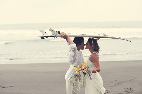 surfer weddings