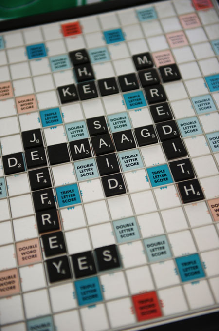 scrabble engagement photos