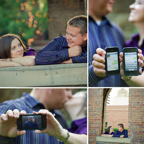 ipod engagement photos