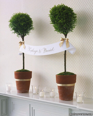 Wedding Decor Topiary Designs