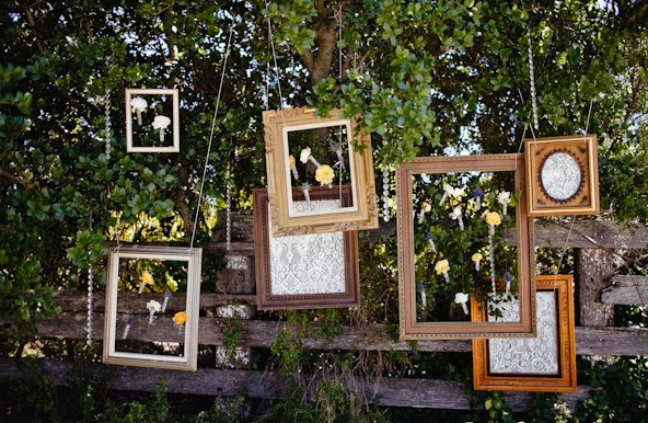 vintage wedding frames