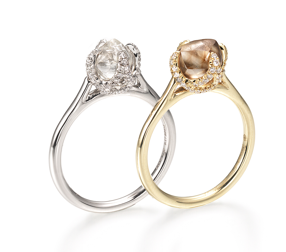 cube diamond vanier ring on and rings elsa koppmann en yellow josef gold silver rough