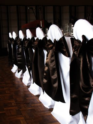 reception chairs with bows