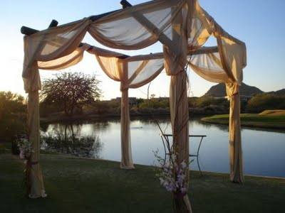 outdoor wedding chuppah