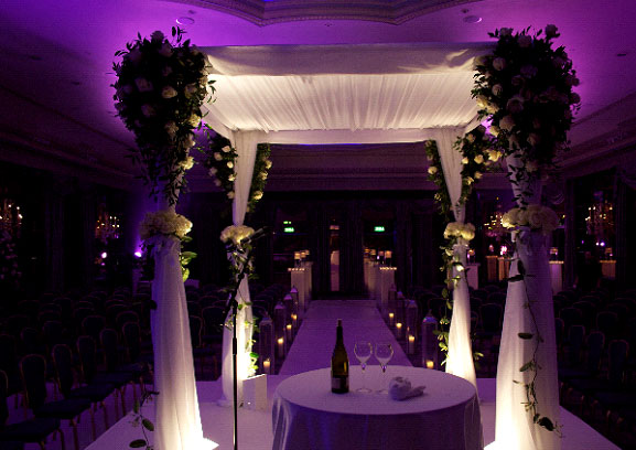 indoor wedding chuppah