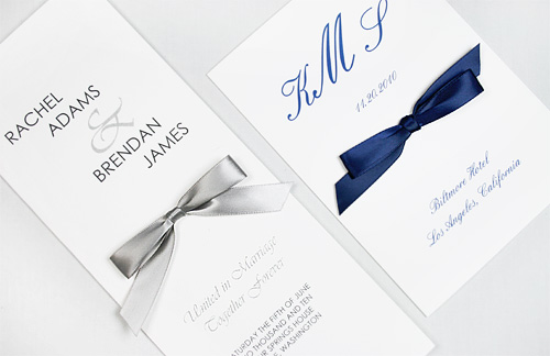 silver and blue wedding programs
