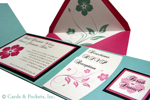 Fuschia And Orange Wedding Invitations: Wedding Blog: Aqua And Fuchsia Wedding Inspiration