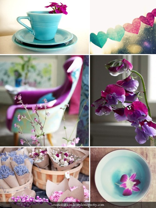 Aqua Fuchsia wedding details