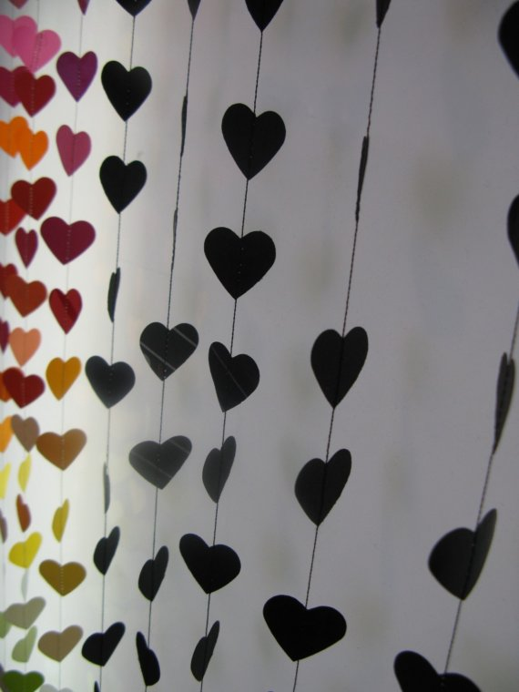 heart wedding garland