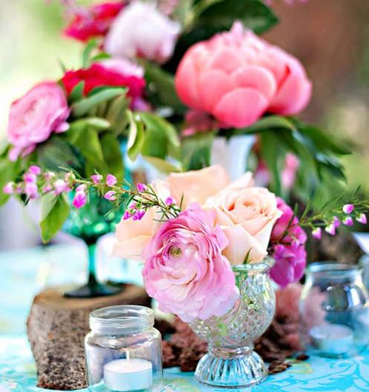 Aqua Fuchsia wedding decor