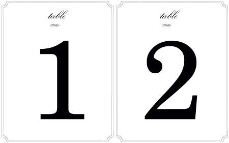 Wedding decor fun table number ideas for Table numbers template for weddings