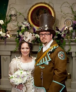 steampunk wedding portraits