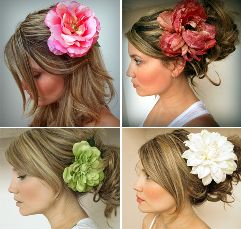 colorful flower hair accessory