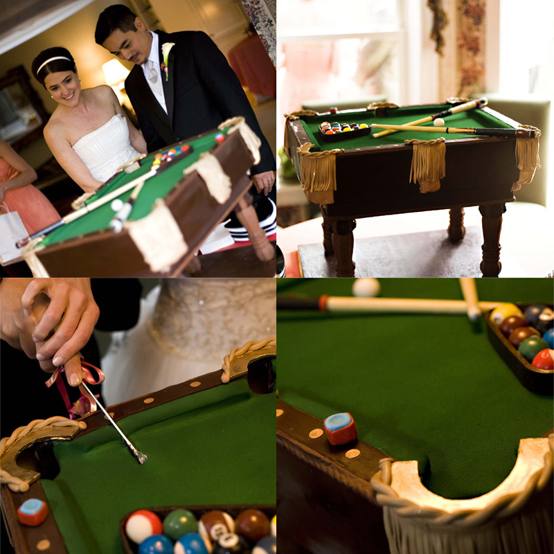 pool table groom's cake