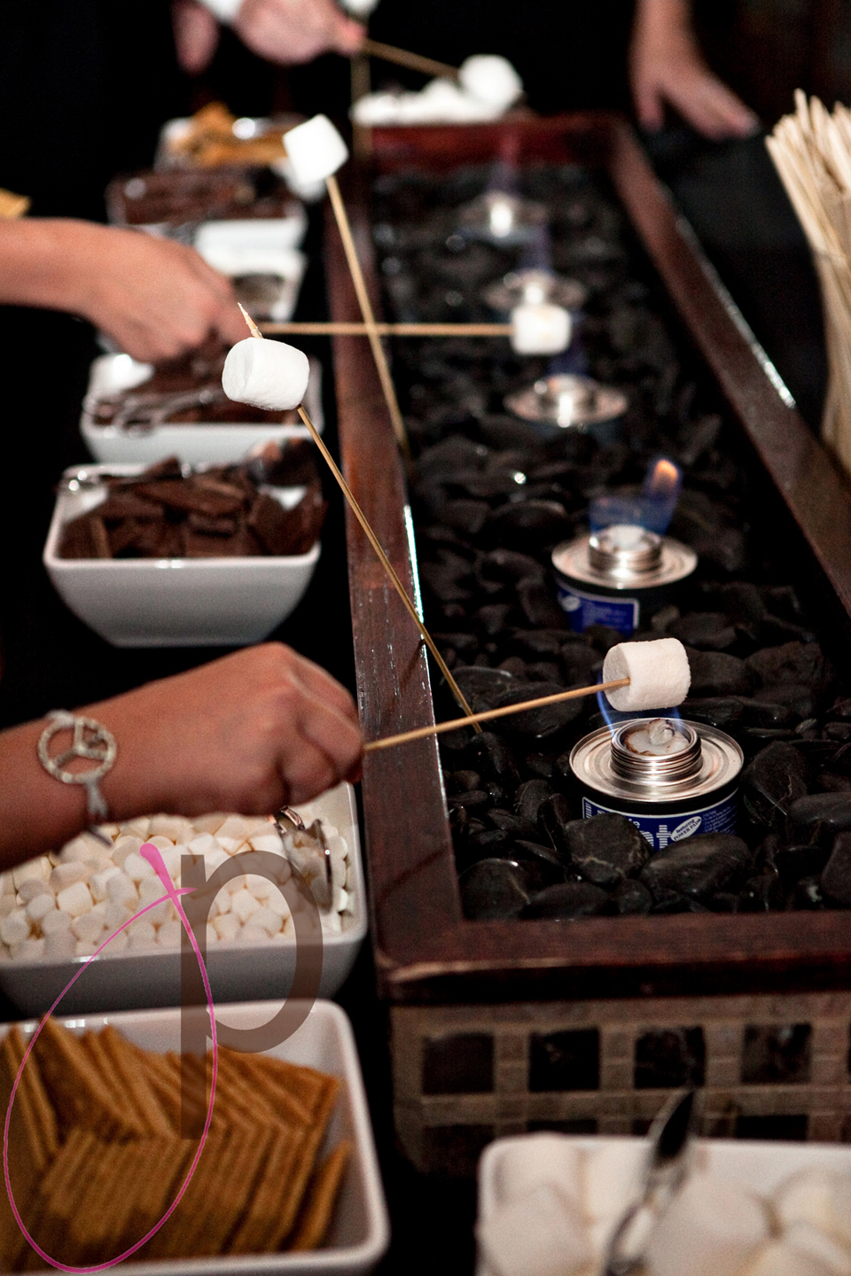 wedding smores bar