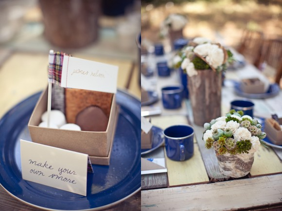outdoor wedding desserts