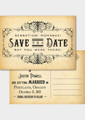 vintage style save the dates