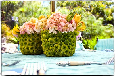 flower basket centerpieces
