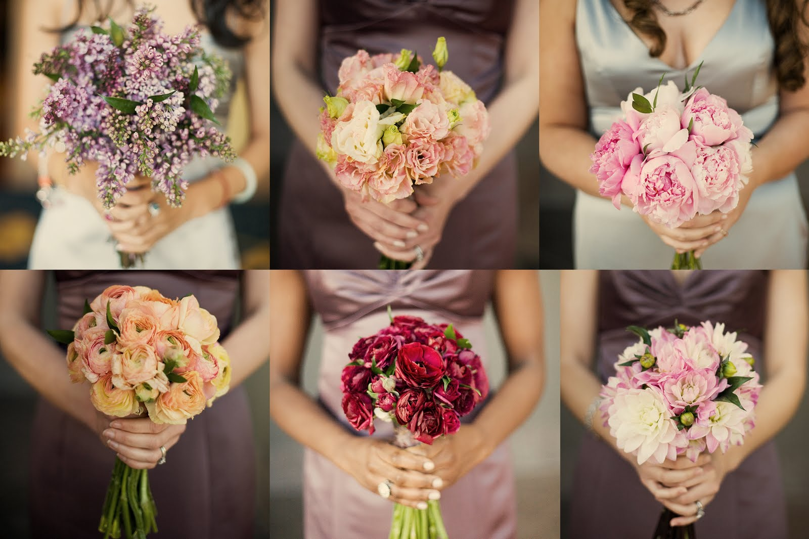 Wedding flower trends mismatched bridesmaid bouquets for A lot of different flowers make a bouquet