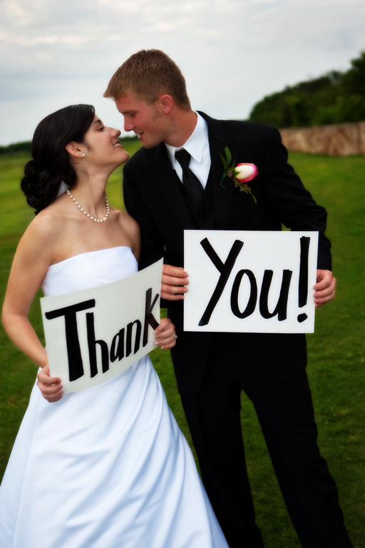 bride groom thank you