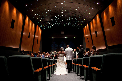 theater wedding ceremony