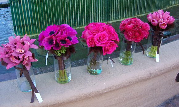 hot pink bridal bouquets