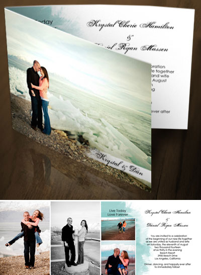 Wedding Invitations Photo Invites by Photo Card Chef