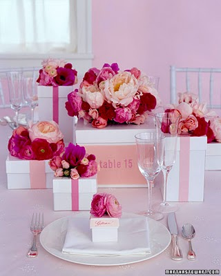 pink and red wedding flowers Photo credit Martha Stewart Weddings