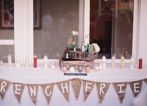 wedding french fry bar