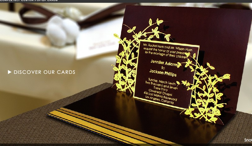 wedding blog popup wedding invitations, invitation samples