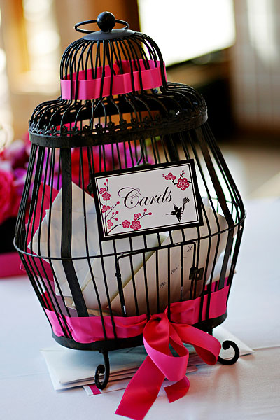 birdcage wedding card box
