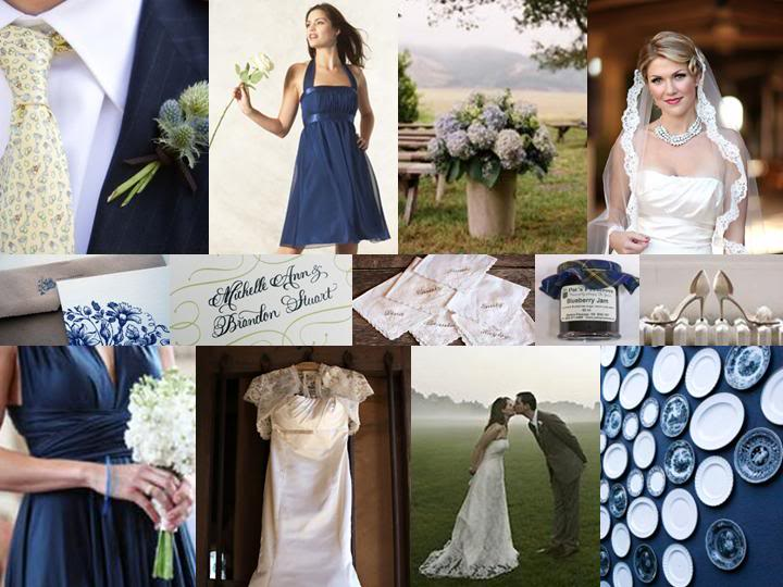 navy and white weddings