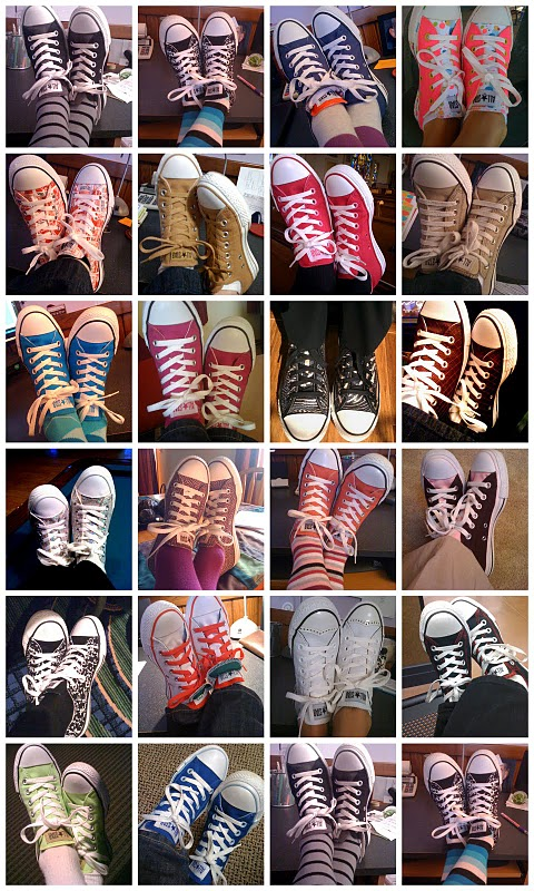 colorful chuck taylors