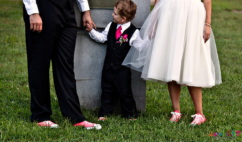 bride groom sneakers