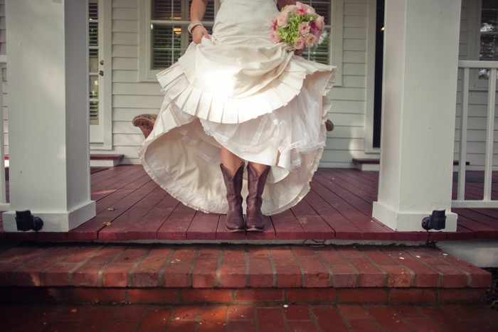 Wedding blog bridal cowboy boots for Wedding dresses for cowboy boots