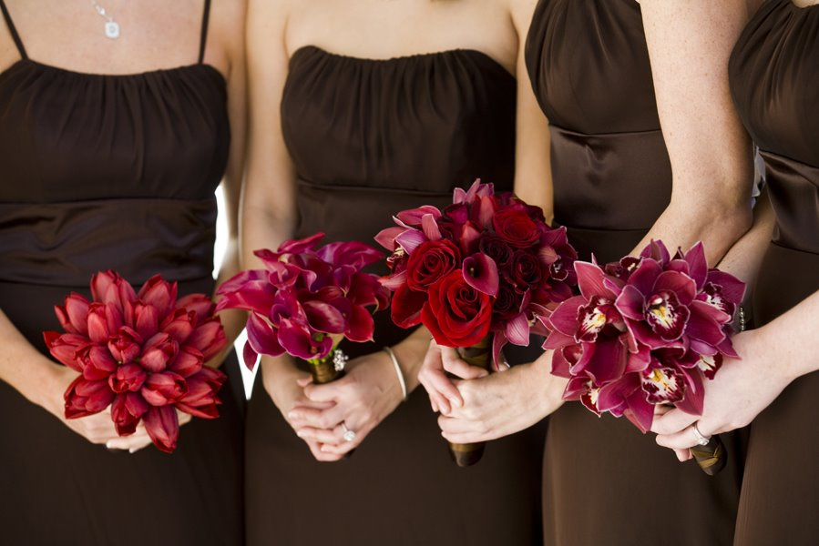different bridesmaid bouquets