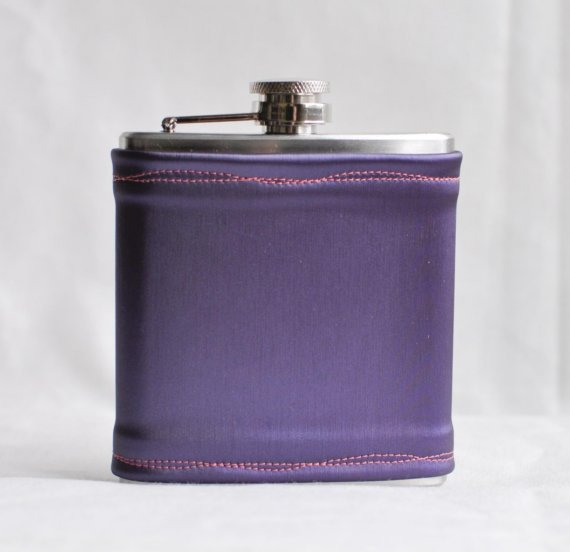 purple wedding flask
