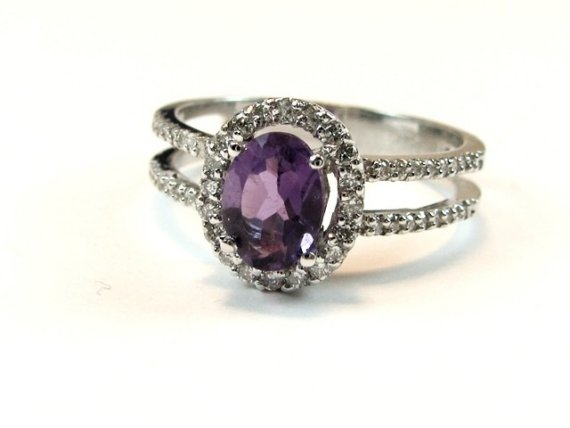 purple wedding ring