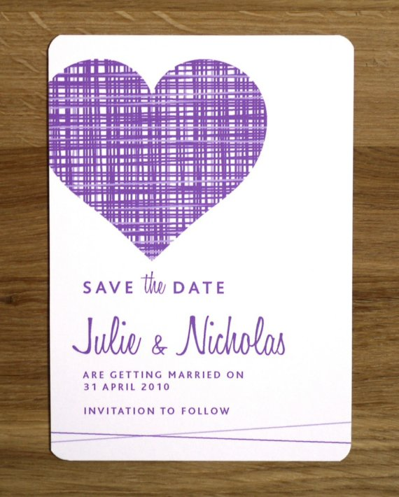purple save the dates
