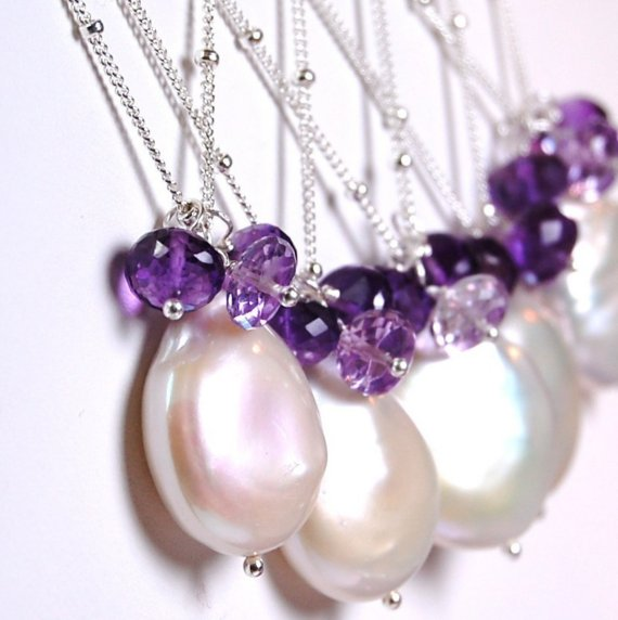 amethyst wedding jewelry