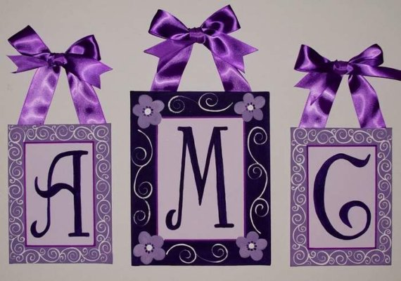 purple wedding monograms